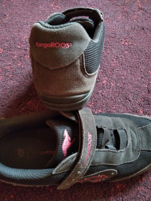 Kangaroos Hook-and-loop fastener Sneakers brown leather