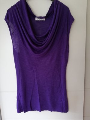 100% Fashion Camisa de mujer violeta oscuro