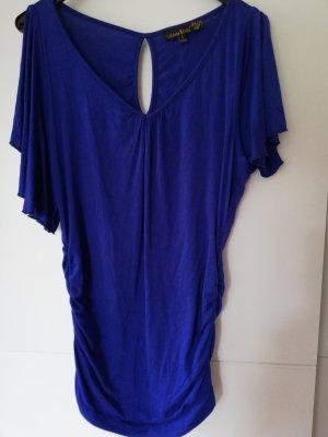 100% Fashion Camisa de mujer azul
