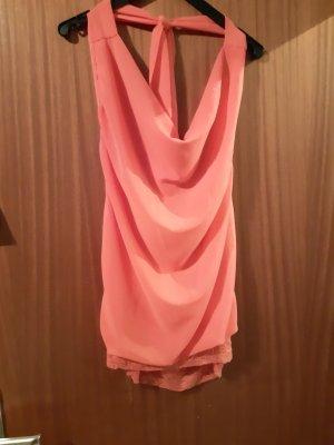 STYLEBOOM Blusa sin espalda rosa