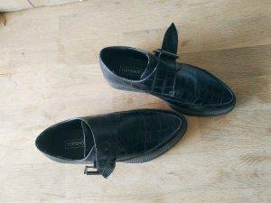 Topshop Zapatos Budapest negro Imitación de cuero