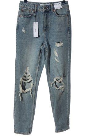 Topshop 7/8 Jeans blau Casual-Look