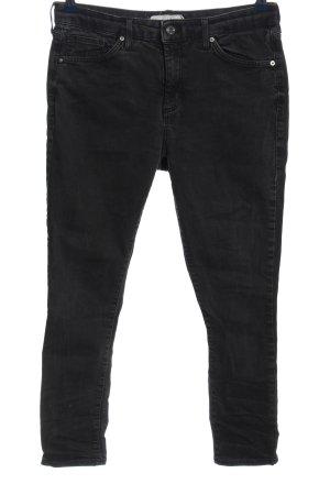 Topshop 7/8 Jeans schwarz Casual-Look