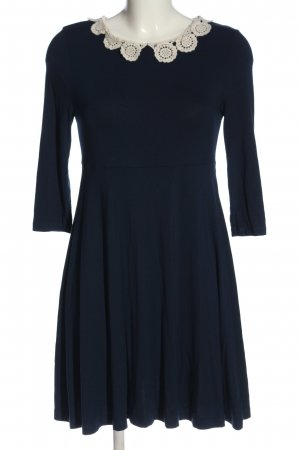 Topshop A Line Dress blue-white casual look