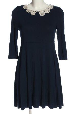 Topshop A-Linien Kleid blau-weiß Casual-Look