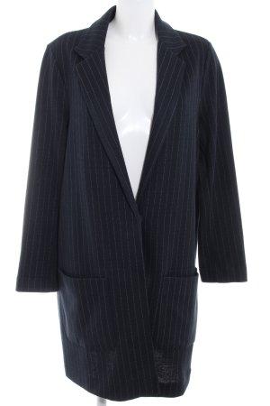 Topshop A-Linien Kleid dunkelblau Nadelstreifen Business-Look