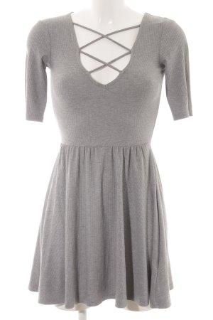 Topshop A-Linien Kleid hellgrau schlichter Stil