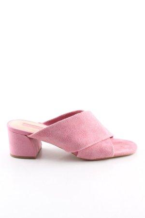 Topshop Absatz Pantoletten pink Casual-Look