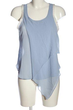 Topshop ärmellose Bluse blau Casual-Look