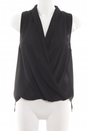 Topshop Blusa sin mangas negro elegante