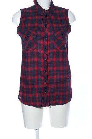 Topshop Blusa sin mangas rojo-azul estampado repetido sobre toda la superficie