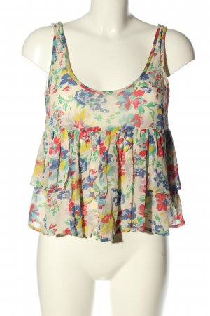 Topshop ärmellose Bluse Allover-Druck Casual-Look