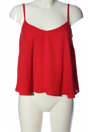 Topshop ärmellose Bluse rot Casual-Look