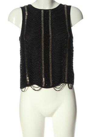 Topshop ärmellose Bluse schwarz Casual-Look