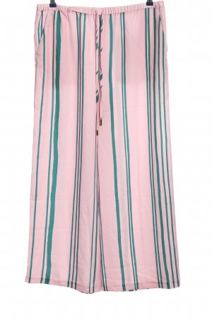 Topshop Baggy Pants pink-green striped pattern casual look