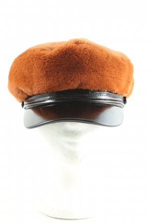 Topshop Béret orange clair-noir style d'affaires