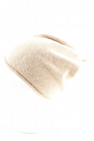 Topshop Beanie creme meliert Casual-Look