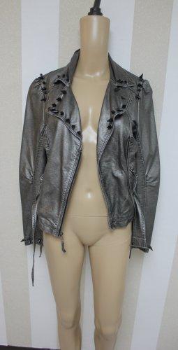 Topshop Biker Jacket silver-colored-grey