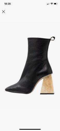 TopShop Black Marble Heel Boots