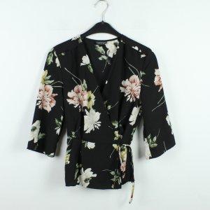 Topshop Blusa tipo kimono negro-rosa claro Poliéster