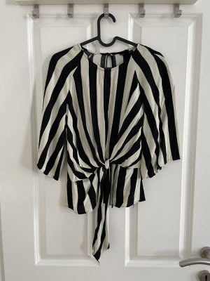 Topshop Bluse in schwarz weiß mit Knopfoptik