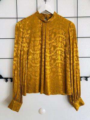 Topshop Bluse Oberteil Shirt Eleganz gelbgold Senfgelb