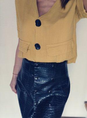 Topshop bluse zum Knöpfen pastel Senf Ton gr 36
