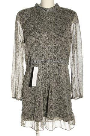 Topshop Blusenkleid schwarz-wollweiß abstraktes Muster Casual-Look
