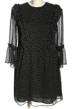 Topshop Blusenkleid schwarz-weiß Allover-Druck Casual-Look