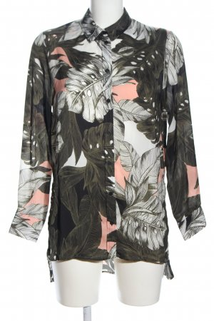 Topshop Long Sleeve Blouse abstract pattern casual look