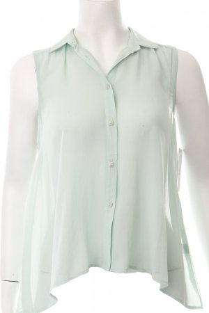 Topshop Blusentop mint Transparenz-Optik