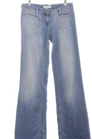 Topshop Boot Cut Jeans blau Casual-Look