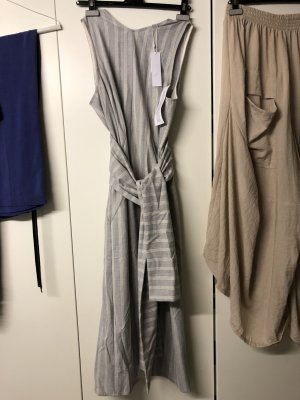 Topshop Maxi Dress light grey-natural white polyester
