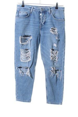 Topshop Jeans boyfriend bleu style décontracté