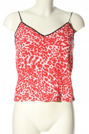 Topshop Camisole rot-wollweiß abstraktes Muster Casual-Look