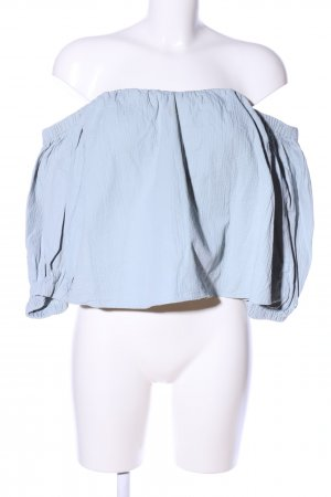 Topshop Carmen-Bluse blau Casual-Look