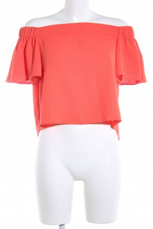 Topshop Carmen-Bluse rot Casual-Look