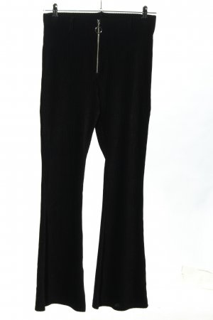 Topshop Corduroy Trousers black striped pattern casual look