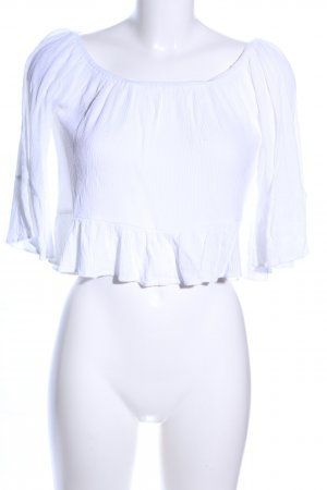 Topshop Blusa estilo Crash blanco look casual