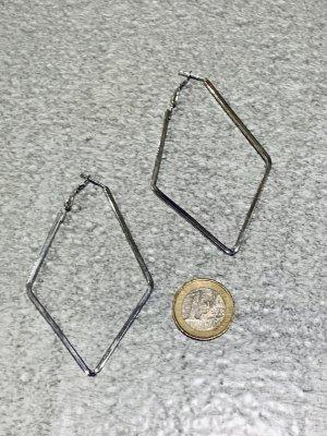 Topshop Pendientes tipo aro color plata