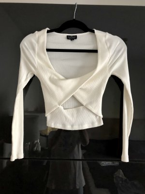 Topshop Cropped Jumper natural white-cream