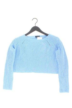 Topshop Crop Pullover Größe 38 blau aus Acryl