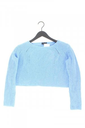 Topshop Crop Pullover Größe 38 blau aus Polyacryl