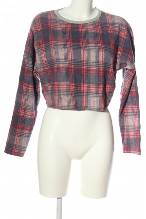 Topshop Cropped Pullover Karomuster Casual-Look