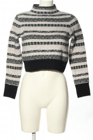 Topshop Cropped Pullover Streifenmuster Casual-Look