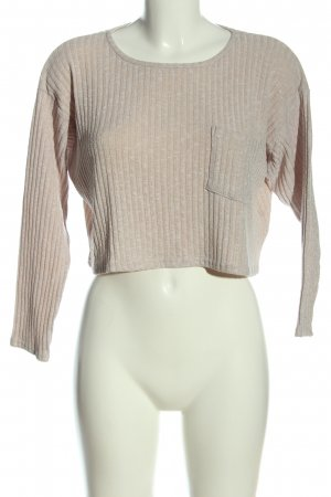 Topshop Cropped Pullover wollweiß Casual-Look