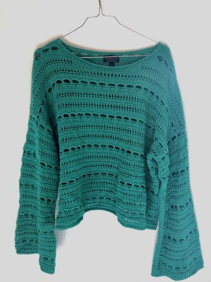 Topshop Crochet Sweater multicolored