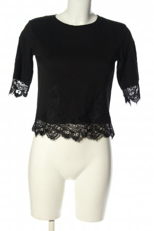Topshop Cropped Shirt schwarz Casual-Look