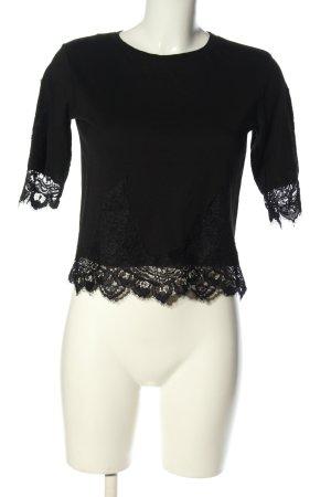 Topshop Cropped shirt zwart casual uitstraling