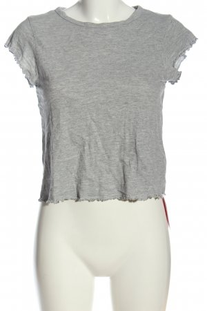Topshop Cropped Shirt hellgrau meliert Casual-Look